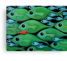 Green Fish 1 Canvas Print