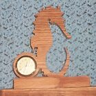 Seahorse Miniature wooden desk clock by FineCrafts