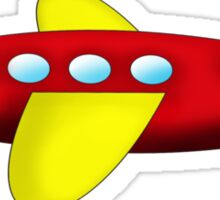 Red and Yellow Airplane Sticker