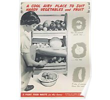 United States Department of Agriculture Poster 0296 A Cool Ariy Place to Suit Hardy Vegetables and Fruit Poster