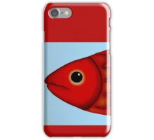 Red Fish Head iPhone Case/Skin