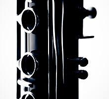 Clarinet detail blue II by sustine