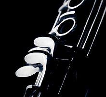 Clarinet detail blue III by sustine