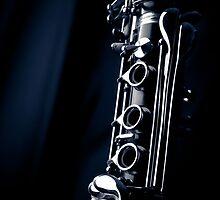 Clarinet detail blue IV by sustine