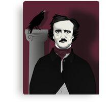 Edgar and Raven Canvas Print