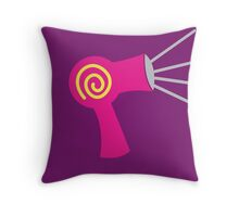 Hot pink Hairdryer stylist  Throw Pillow