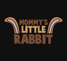 Mommy's little rabbit with cute bunny ears One Piece - Short Sleeve