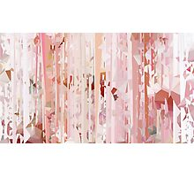 Pink Meshed Up Pattern Photographic Print