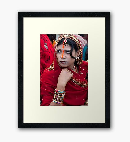 Indian Beauty Framed Print