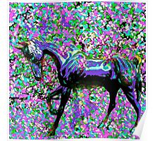 Horse Among the Petals Poster