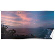 Cape Byron, beach pano Poster