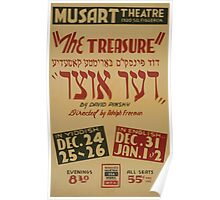 WPA United States Government Work Project Administration Poster 0844 The Treasure Musart Theatre David Pinsky Poster