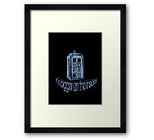 Get to the Tardis! Framed Print