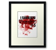 I Survived Slayerfest 98 Framed Print