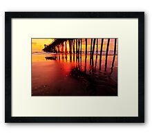 Oceanside Pier at Sunset Framed Print