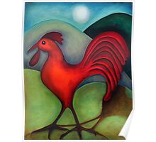 Red Rooster Poster