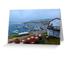 Nova Scotia Harbor Greeting Card