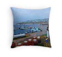 Nova Scotia Harbor Throw Pillow