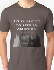 10 Highest Points in America T-Shirt