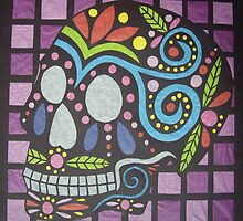 Cut Paper Sugar Skull by azurafae