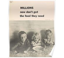 United States Department of Agriculture Poster 0089 Millions Now Don't Get The Food They need Poster