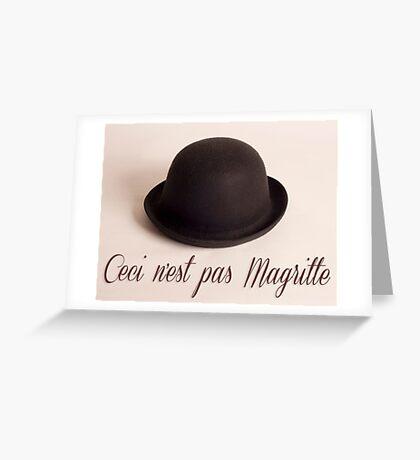 Ceci n'est pas Magritte - chapeau Greeting Card