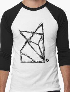 Origami Fox (Customisable! See Description) Men's Baseball ¾ T-Shirt