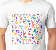 Colorful Assorted Musical Instruments Unisex T-Shirt