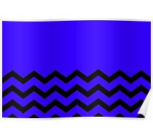 Beautiful Cushions/Chevron/Blue Black Poster