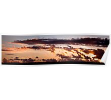 Sunset over United Downs Poster