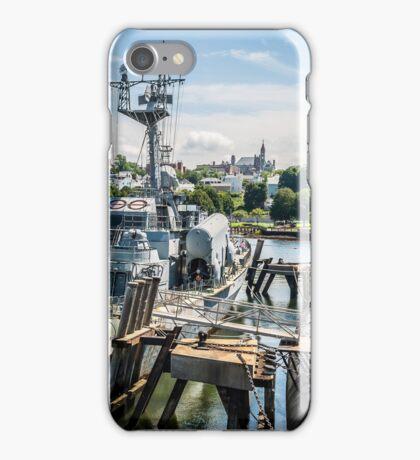 Soviet Missile Corvette: Battleship Cove Fall River, MA iPhone Case/Skin