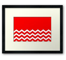 Beautiful Cushions/Chevron/ Red White Framed Print