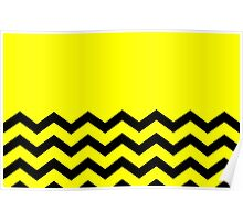Beautiful Cushions/Chevron/ Yellow Black Poster