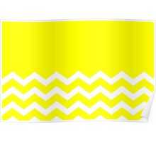 Beautiful Cushions/Chevron/ Yellow  Poster