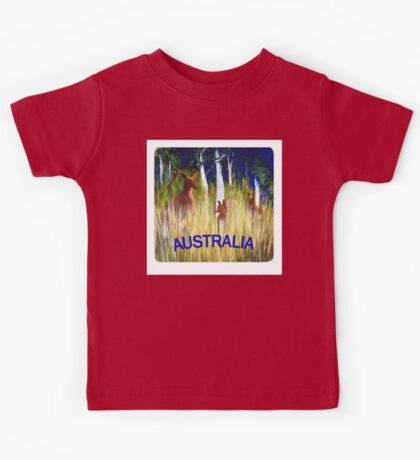 Roos in the Grass  Kids Tee