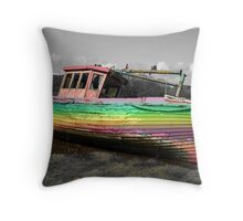 The Old Fishing Boat - Kirkcudbright Scotland Throw Pillow