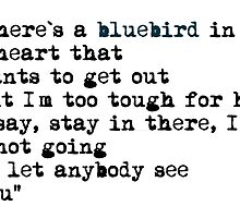 Blue bird quote by fuka-eri