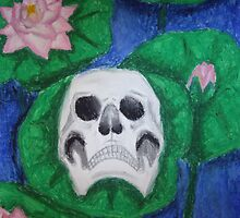 Skull on Lily Pad by azurafae