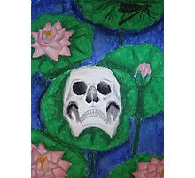 Skull on Lily Pad Photographic Print