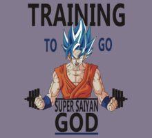 Training to go Super Saiyan God Kids Clothes