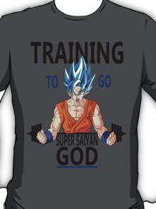 Training to go Super Saiyan God T-Shirt