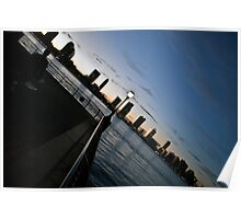 New Jersey Skyline/ Hudson River  Poster