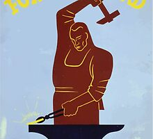 WPA United States Government Work Project Administration Poster 0324 Forging Ahead by wetdryvac