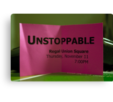Free Ticket To The Movie Unstoppable  Canvas Print