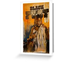 Black Fury Greeting Card