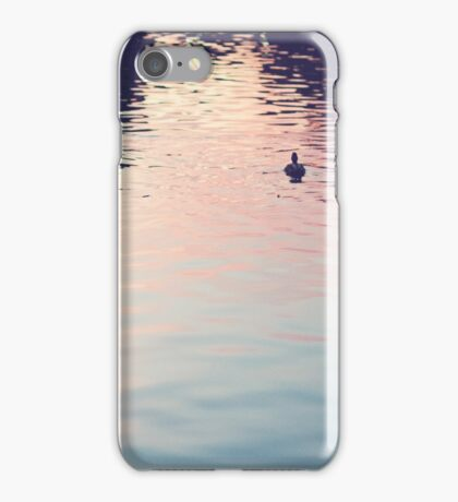 sunset in the water iPhone Case/Skin