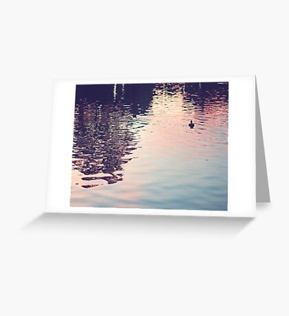 sunset in the water Greeting Card