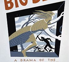 WPA United States Government Work Project Administration Poster 0322 Big Blow A Drama of the Hurricane Country Theodore Pratt Machine Elliott's Theatre by wetdryvac