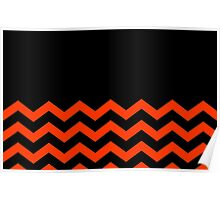 Beautiful Cushions/Chevron/ Black Orange Poster
