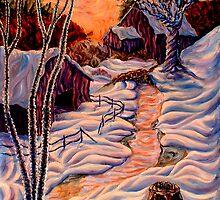 Barns in Snow by John Entrekin